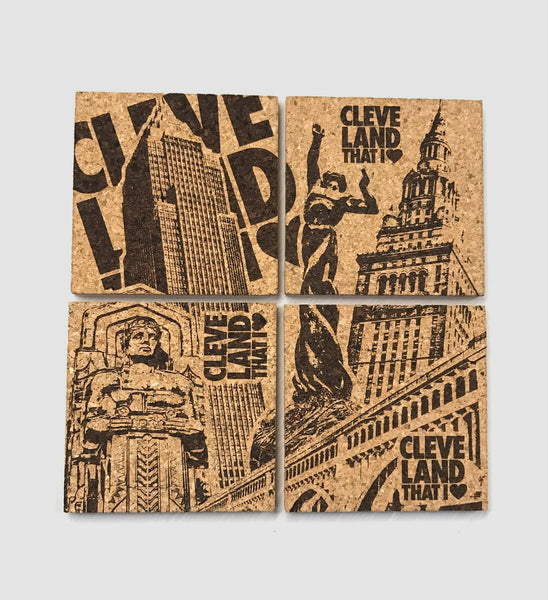 Limited Edition Cleveland Combine City Coasters (4 Pack)