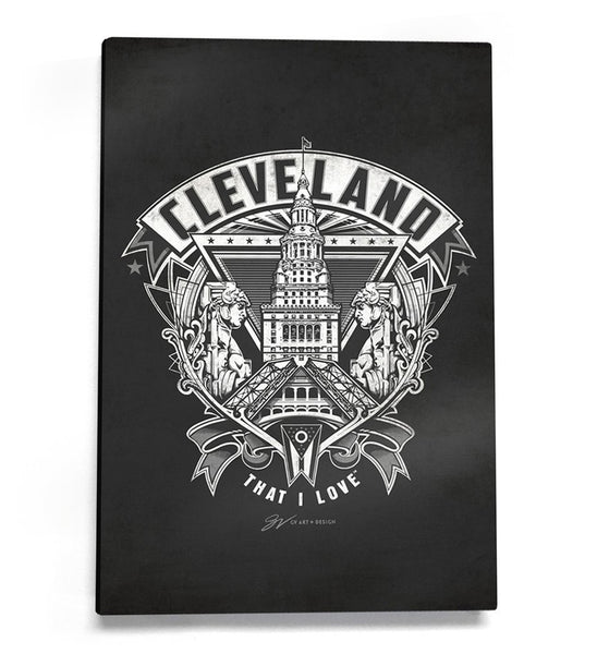 Cleveland Crest Canvas Artwork