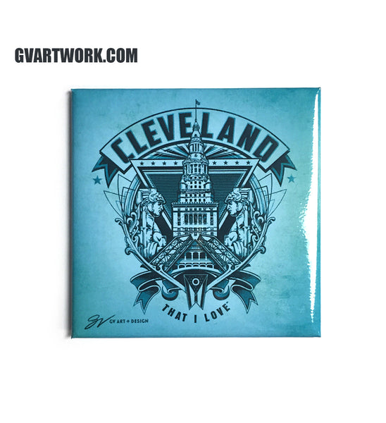Cleveland Crest Graphic Magnet