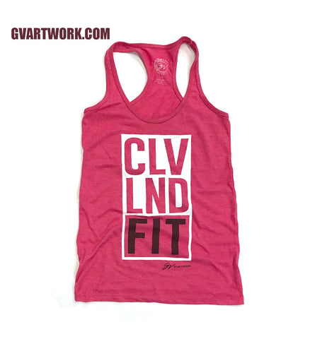 CLEVELAND FIT Womens Racerback Tank Top