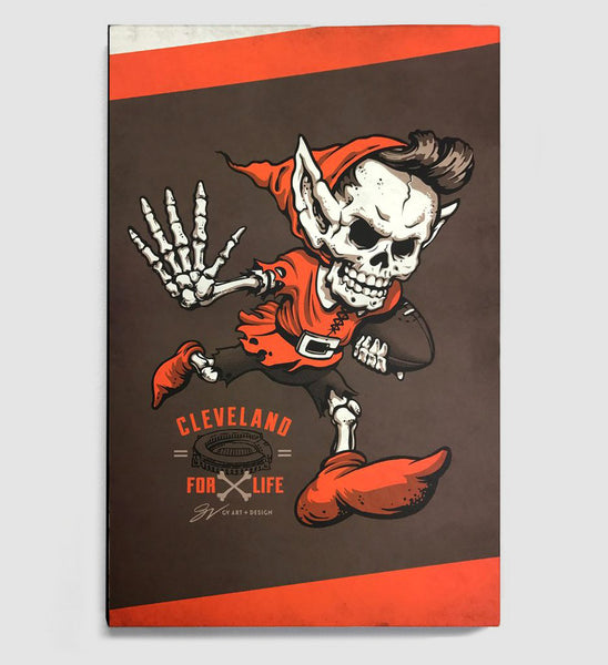 Cleveland Football For Life Canvas Print