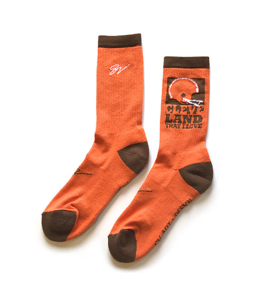 Cleveland Football That I Love Socks