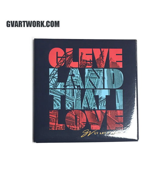 Cleveland That I Love Graphic Magnet