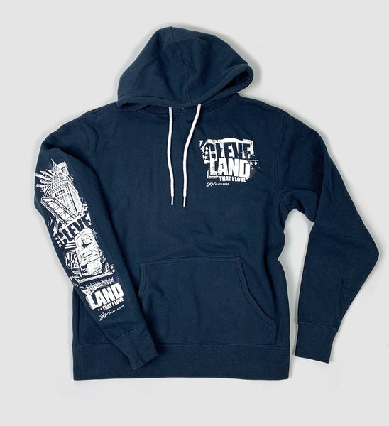 Slate Blue Cleveland That I Love Lightweight Landmarks Hoodie