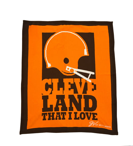 Cleveland That I Love Helmet Blanket