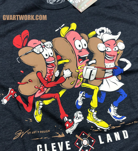 Kids Cleveland Hot Dogs T shirt