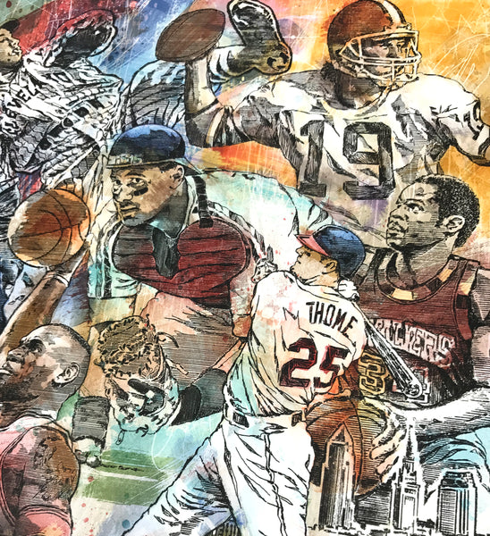 New Cleveland Sports Legends Fine Art Print