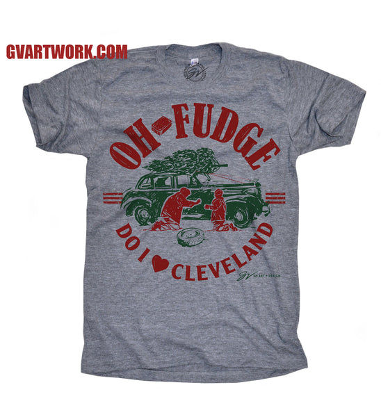Oh Fudge Do I Love Cleveland Christmas T shirt