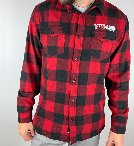 Cleveland That I Love Red Graphic Terminal Tower Flannel