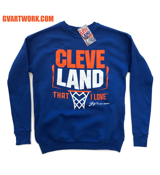 Cleveland Backboard Royal Crew Sweatshirt