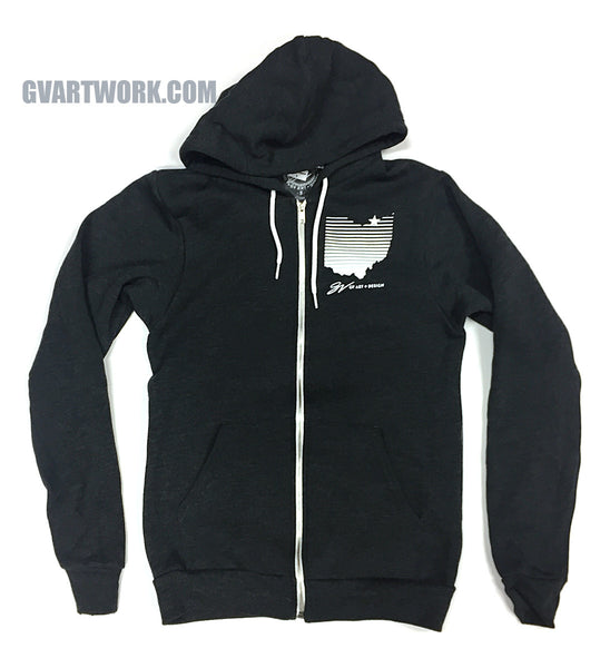Cleveland SkyLINES dark Grey Zip Up Hoodie