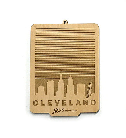 Cleveland SkyLINE Wooden Ornament