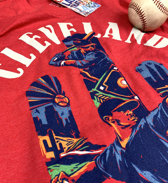 Red Cleveland Spring Into Baseball Cactus T shirt