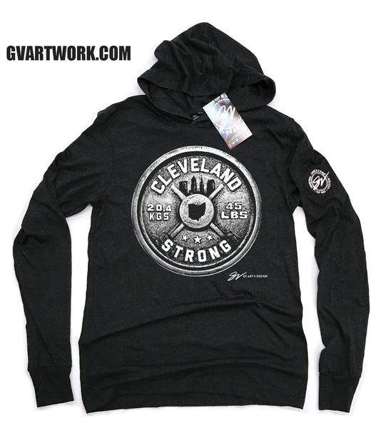 Cleveland Strong Weight Long Sleeve Hooded T shirt