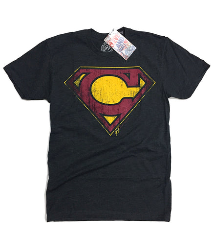 Black Cleveland Super C Wine and Gold T shirt