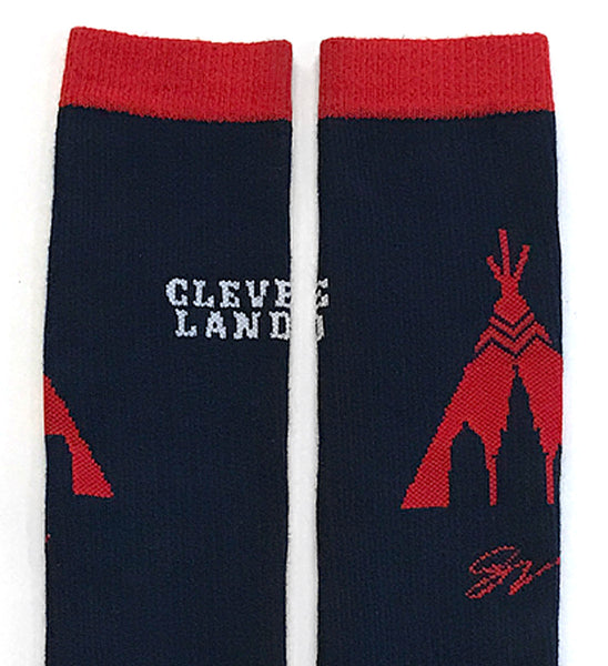 Cleveland Baseball Tee Pee High Socks