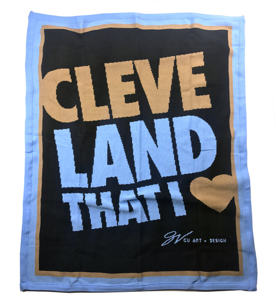Cleveland That I Love Blue Blanket