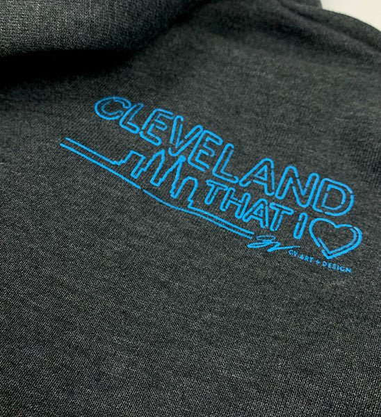 Neon Lights Cleveland That I Love T-Shirt