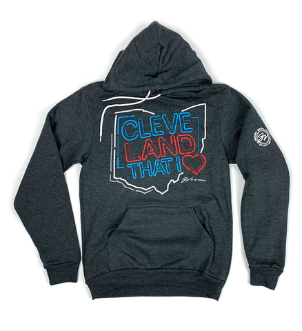 Neon Lights Cleveland That I Love Hooded Sweatshirt