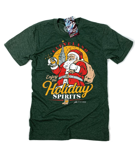 Cleveland Whiskey Holiday Spirits T shirt