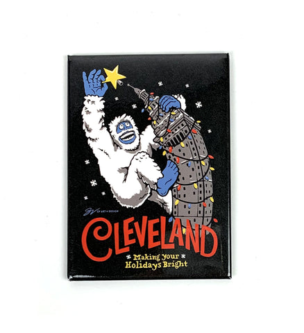 Cleveland Making Your Holidays Bright Magnet