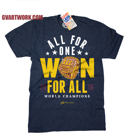 Cleveland World Champions T shirt All For One WON For All