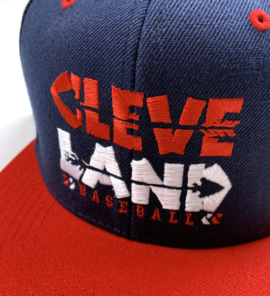 Cleveland Baseball Arrows Snap Back - Navy/Red