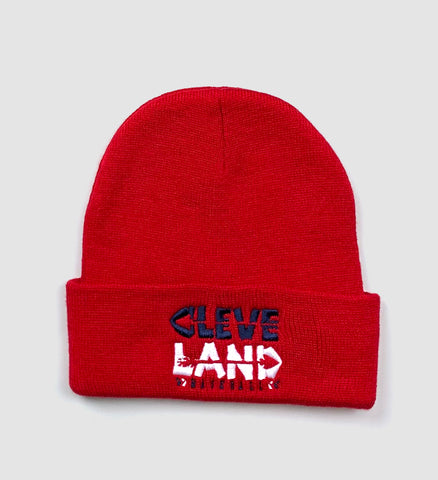 Cleveland Baseball Arrows Winter Hat - Red