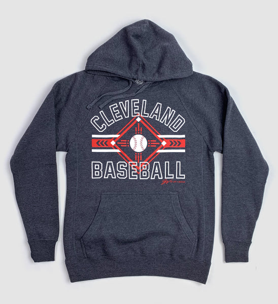 Cleveland Baseball Stripes Hooded Sweatshirt