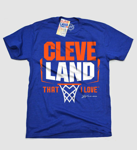 Cleveland Basketball That I Love Royal/Orange