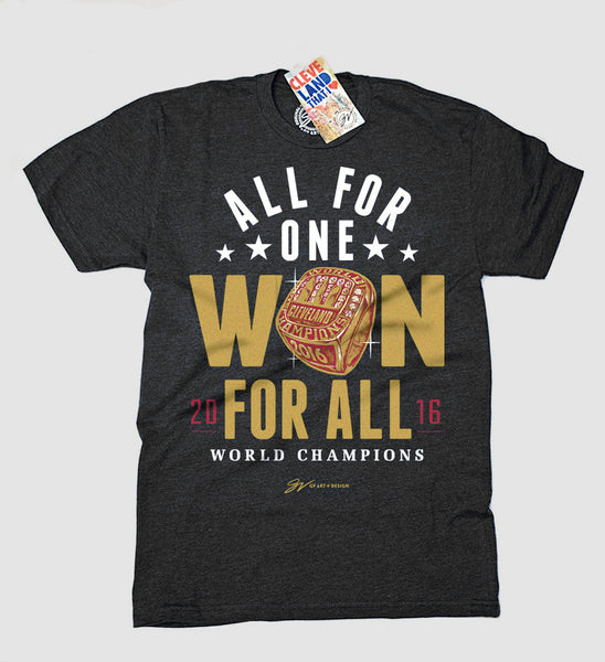 Cleveland Won For All World Champs re-release T shirt