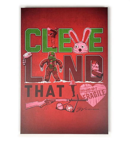Christmas Cleveland That I Love Canvas Artwork