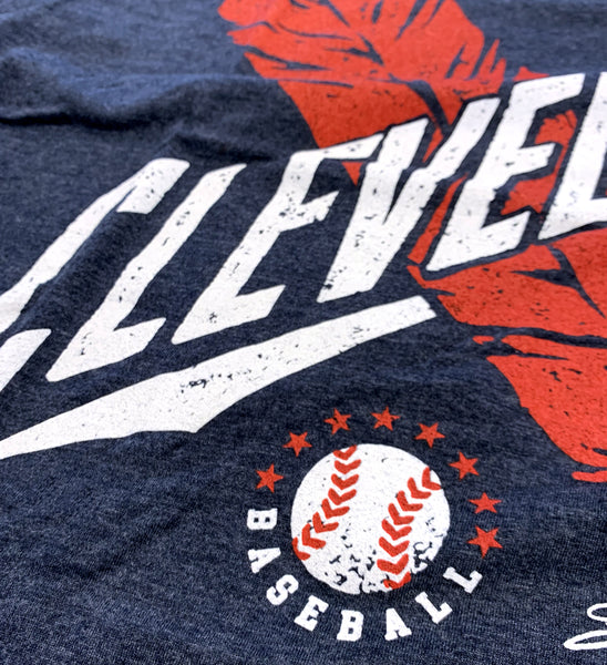 Cleveland Baseball Crossed Feather T shirt