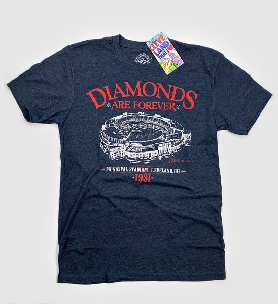 Diamonds Are Forever Cleveland Municipal Stadium T shirt