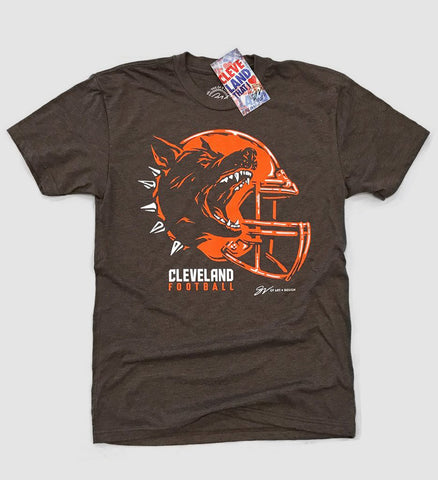 Play Vicious Cleveland Football Helmet T shirt