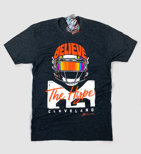 Believe The Hype Cleveland Football T shirt