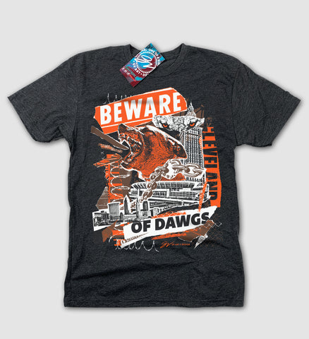 Beware of DAWGS Cleveland Football T shirt