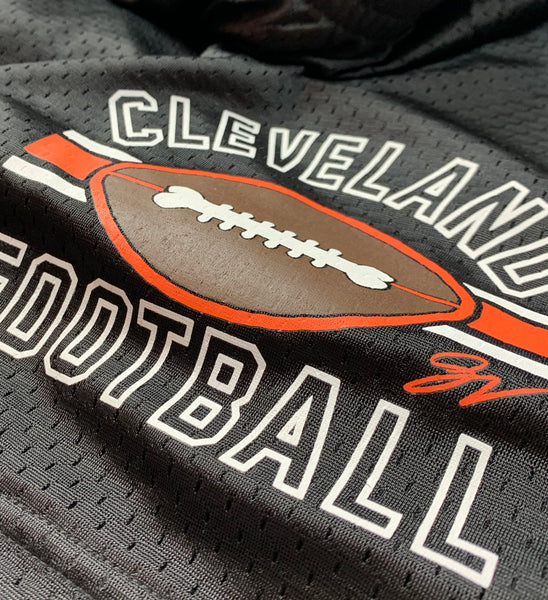 Vintage Cleveland Football Pocketed Mesh Shorts