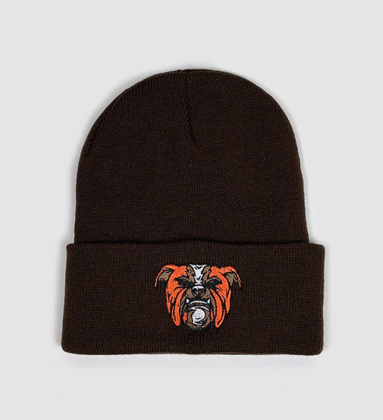 Brown Cleveland Dawg Winter Hat