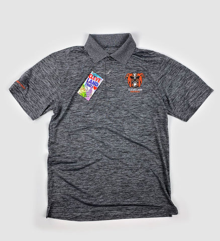 Cleveland Football Dawgs Dark Grey Polo