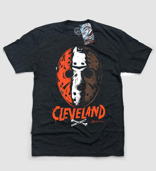 Cleveland Football Halloween Mask T shirt