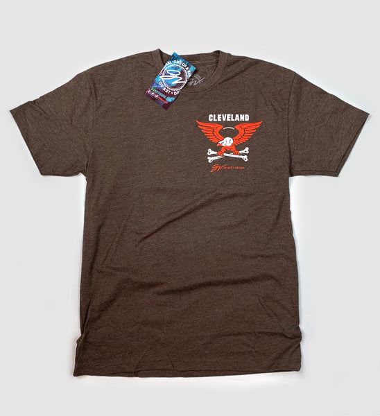 Cleveland Football Flag T shirt
