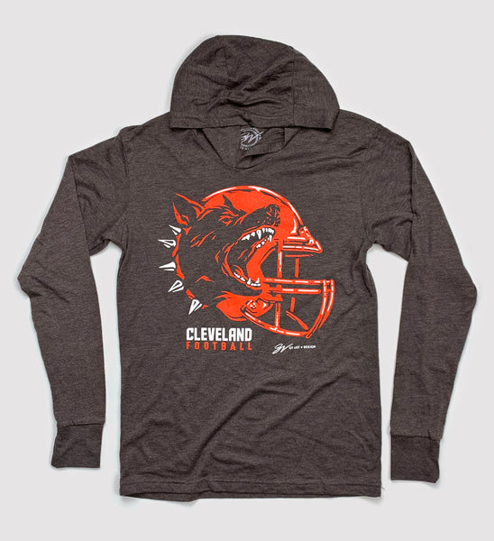 Play Vicious Cleveland Football Helmet Hooded T