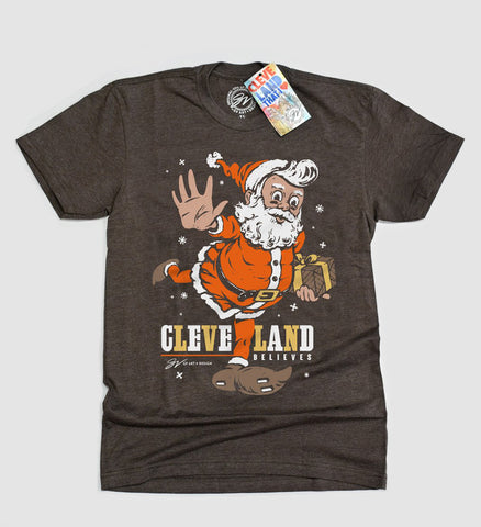 Believe - Cleveland Football Christmas T shirt