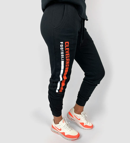 Women's Cleveland Football Stripe Sweatpants