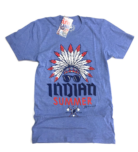 Blue INDIAN Summer T shirt