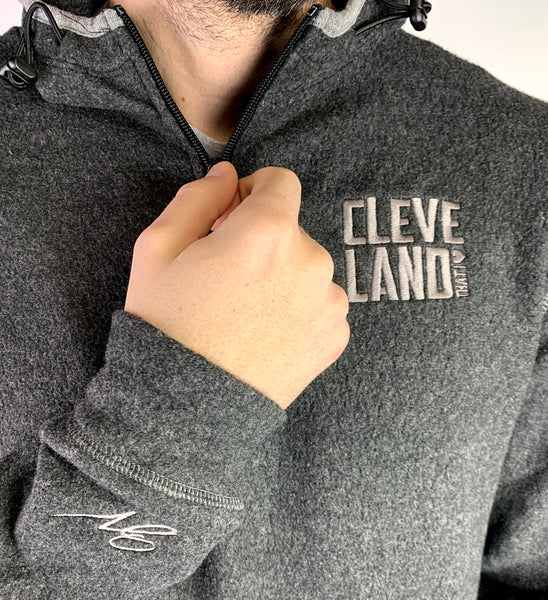 Men's Cleveland Fleece Hooded Quarter Zip Pullover