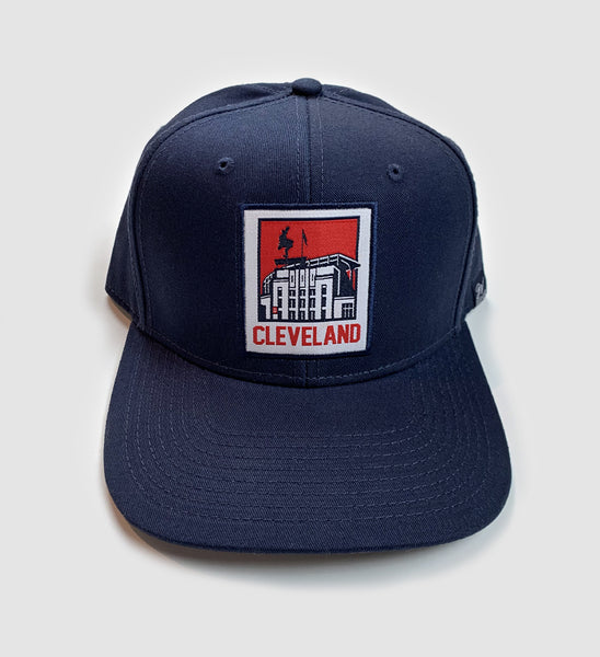 Cleveland Municipal Stadium Snap Back - Navy