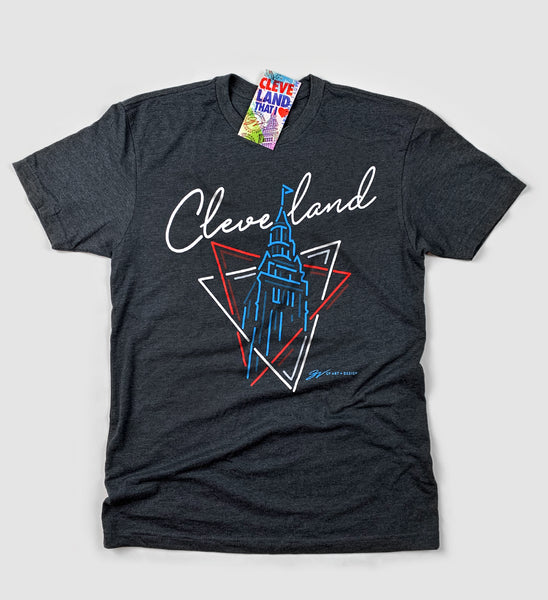 Neon Lights Terminal Tower T-Shirt