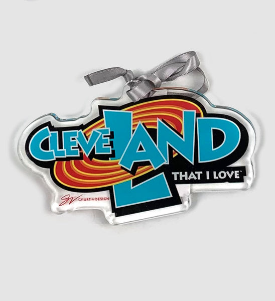 Cleveland Space Land Clear Ornament